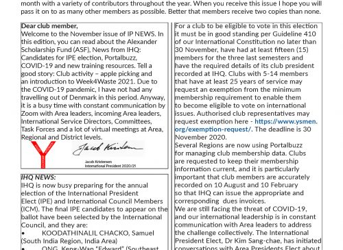 IP e-News – November 2020