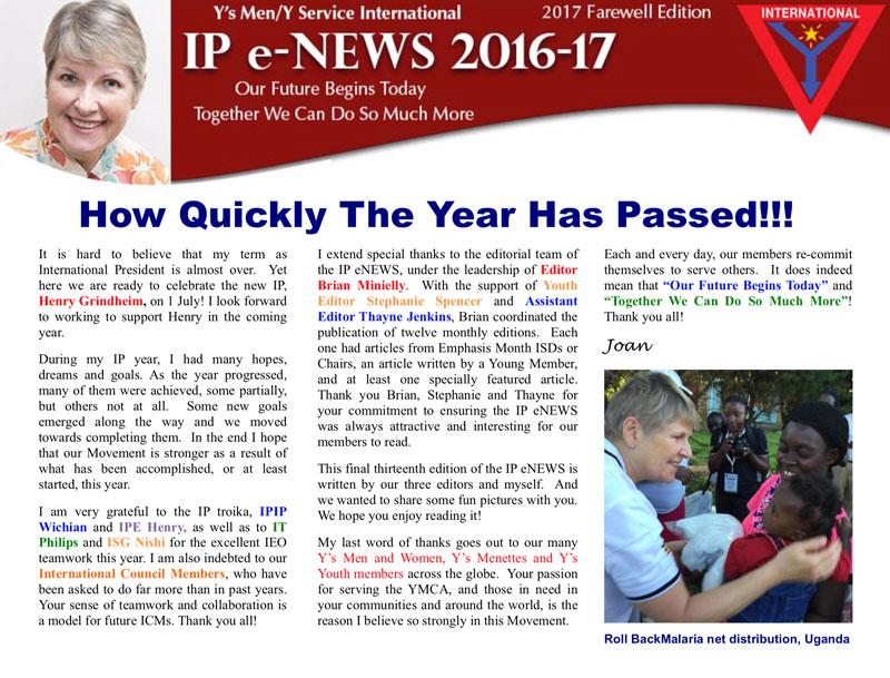 IP e-NEWS – Farewell